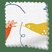 Hygge Birds Nordic Blue Roller Blind slat image