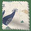 Hygge Birds Vintage Linen Pastoral Blue Roman Blind swatch image