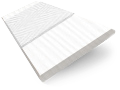 Ice White & White  Faux Wood Blind sample image