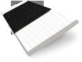 Ice White & Jet Faux Wood Blind - 50mm Slat slat image