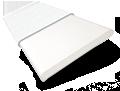 Icicle & Fresh White Faux Wooden Blind - 50mm Slat slat image