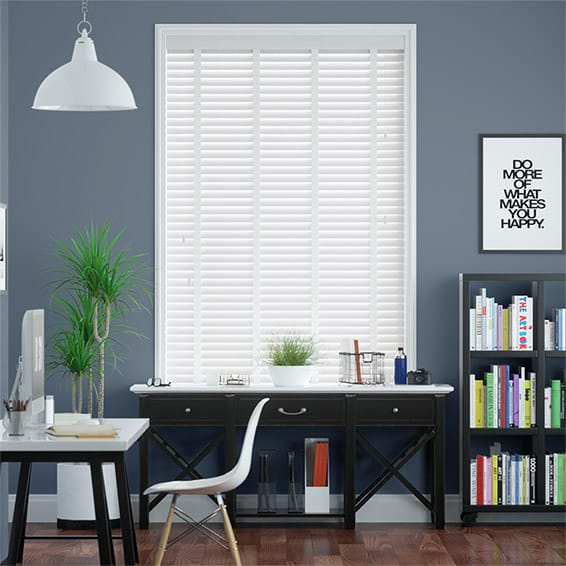 Icicle & Fresh White Faux Wooden Blind - 50mm Slat