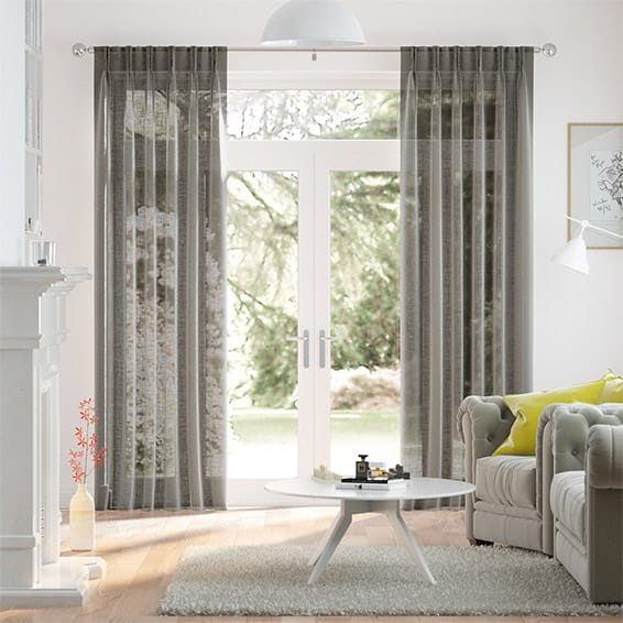 Ionian Voile Ash Curtains
