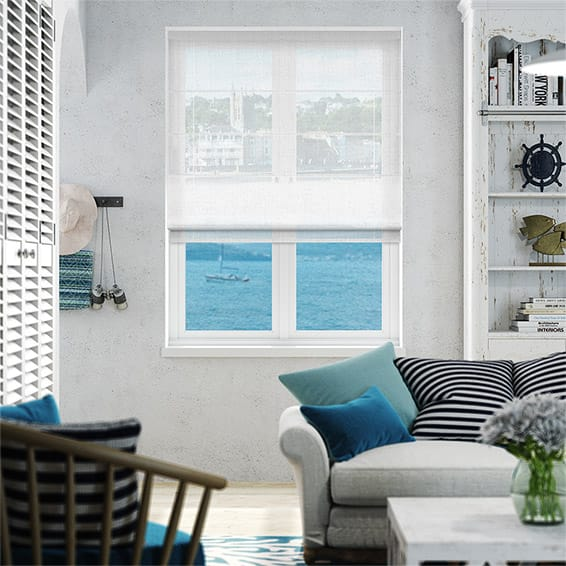 Ionian Voile Crystal Roman Blind