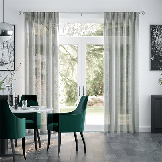 Ionian Voile Pigeon Grey Curtains