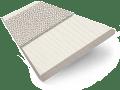 Ivory Lace & Silver Faux Wood Blind - 50mm Slat slat image