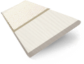 Ivory Lace & Vanilla Faux Wood Blind - 50mm Slat slat image