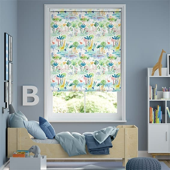 Jungle Fun Blackout Primary Roller Blind