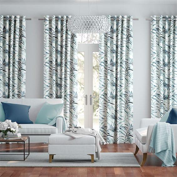 Kentia Linen Azure Curtains
