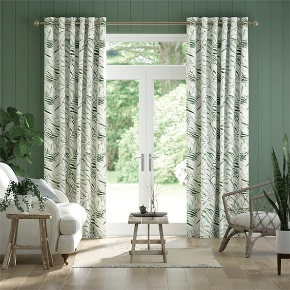 Kentia Linen Leaf Curtains