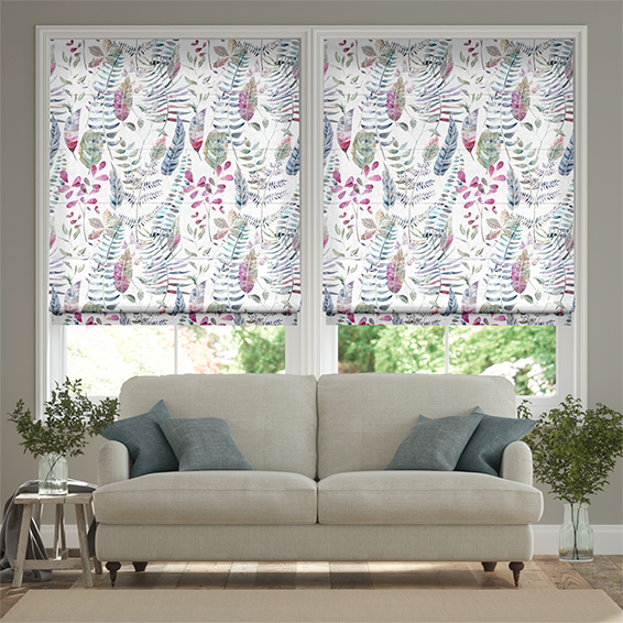 Kenton Loganberry Roman Blind