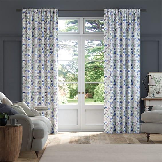 Kiribati Violet Curtains