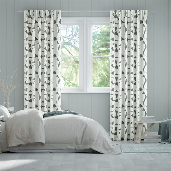 Kukka Charcoal Curtains