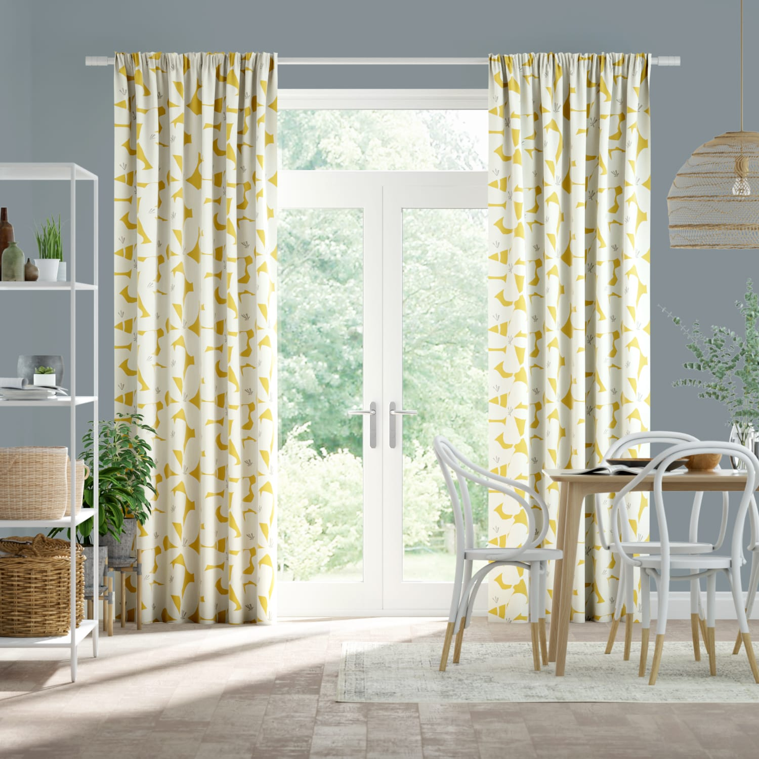 Kukka Honey Curtains