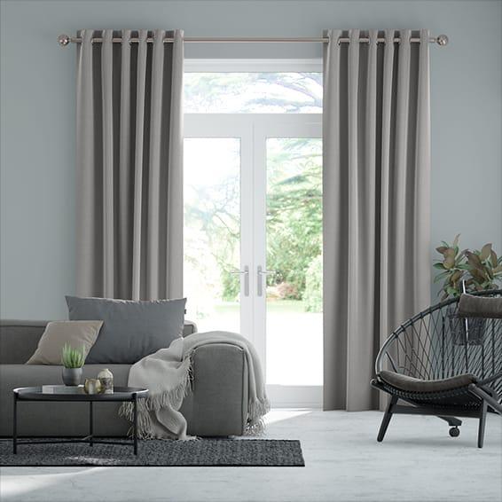 Lanura London Grey  Curtains