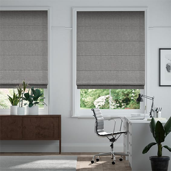 Lanura London Grey  Roman Blind