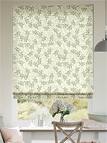 Large Rosehip Leaf Light Green Roman Blind thumbnail image