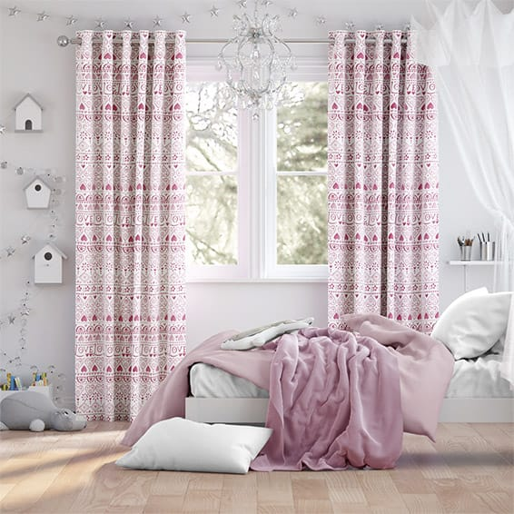 Large Sampler Pink Curtains