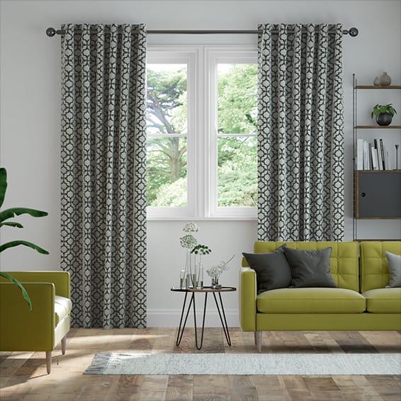Lattice Black Curtains