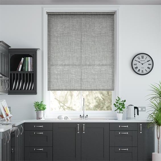 Laurent Silver Grey Roller Blind