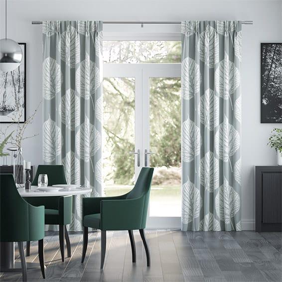 Leaf Pewter Curtains