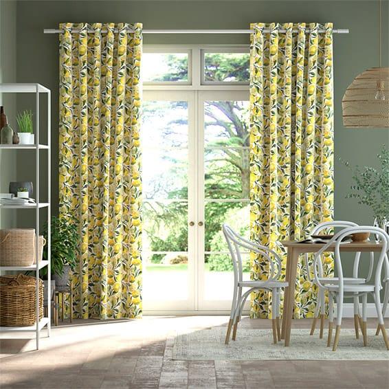 Lemons Yellow Curtains