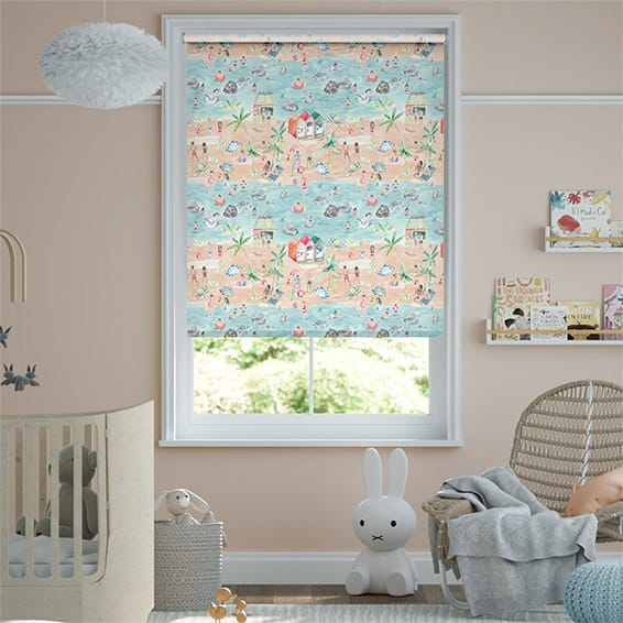 Lets Go to the Beach Blackout Sand Roller Blind