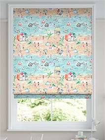 Lets Go to the Beach Sand Roman Blind thumbnail image