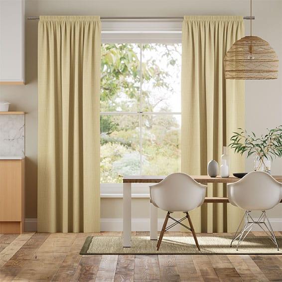 Leyton Golden Yellow Curtains