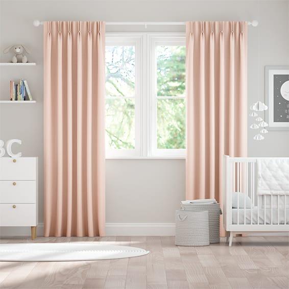 Leyton Pale Pink Curtains