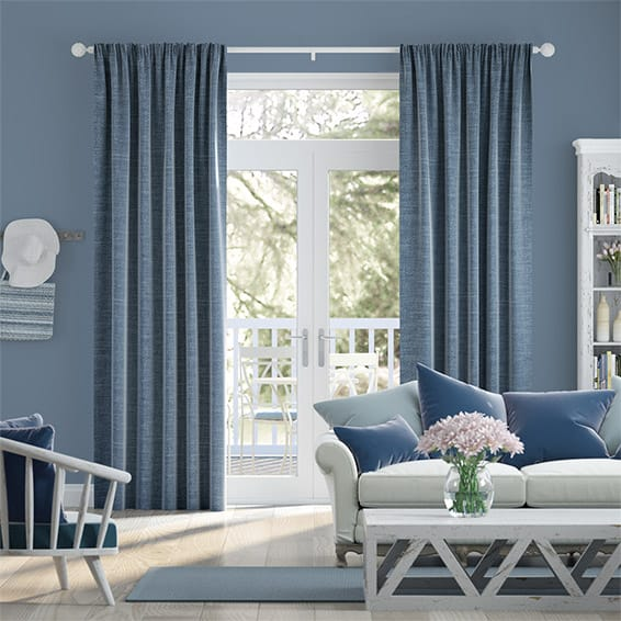 Liliana French Blue Curtains