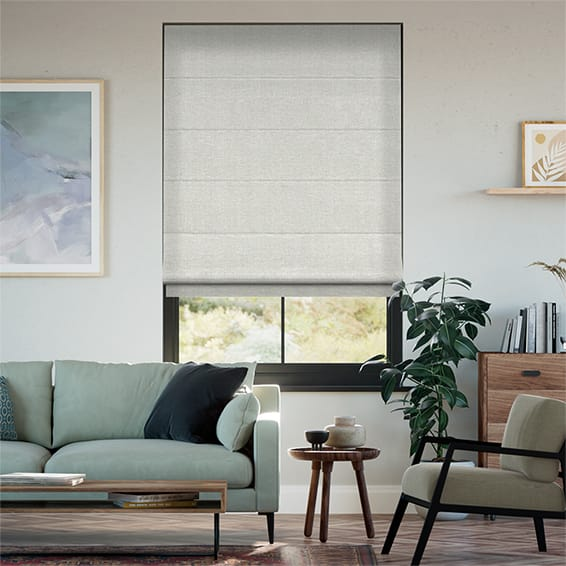 Liliana Moon Grey Roman Blind