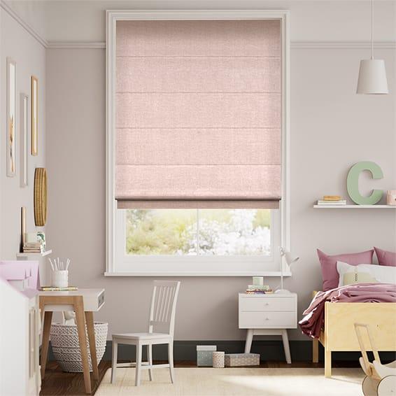Liliana Soft Pink Roman Blind