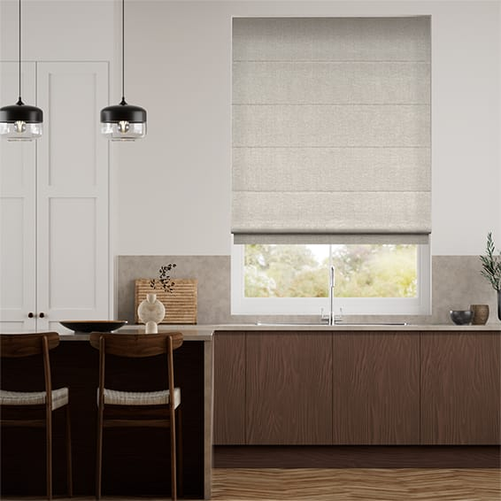 Liliana Warm Grey Roman Blind