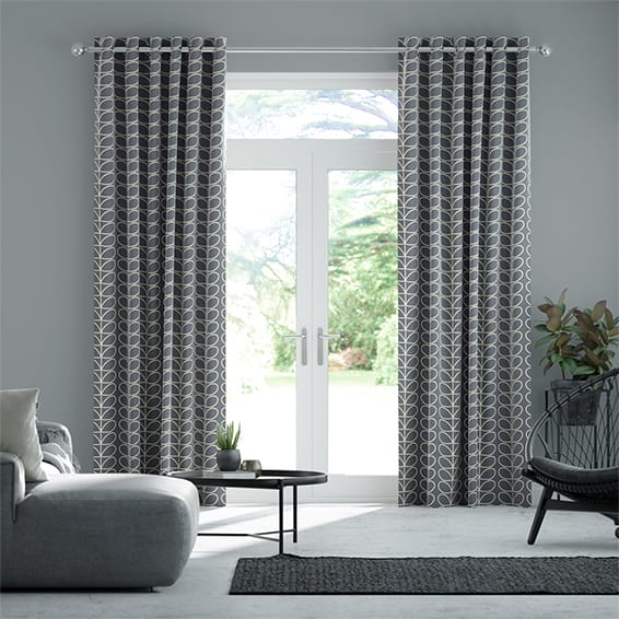 Linear Stem Cool Grey Curtains