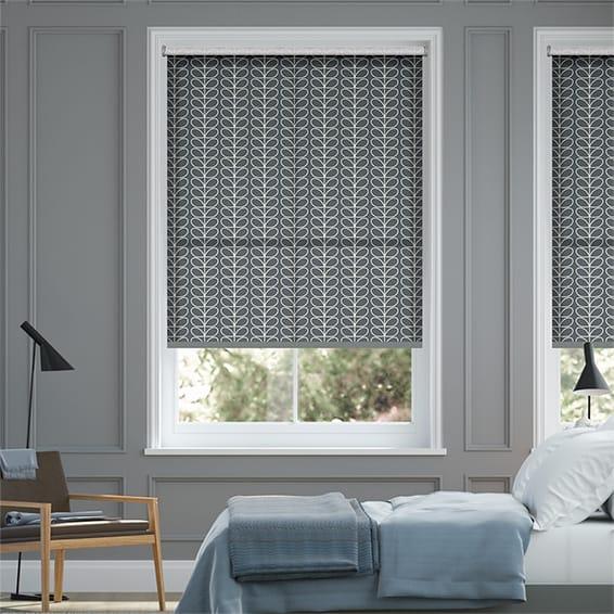 Linear Stem Cool Grey Roller Blind