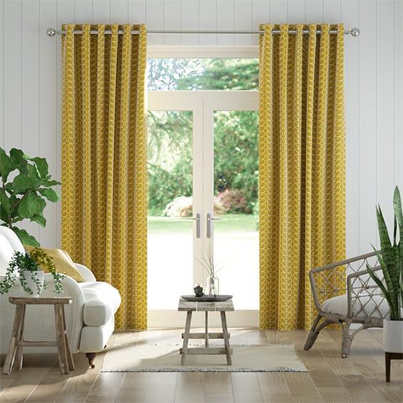 Linear Stem Dandelion Curtains