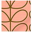Linear Stem Summer Roman Blind swatch image