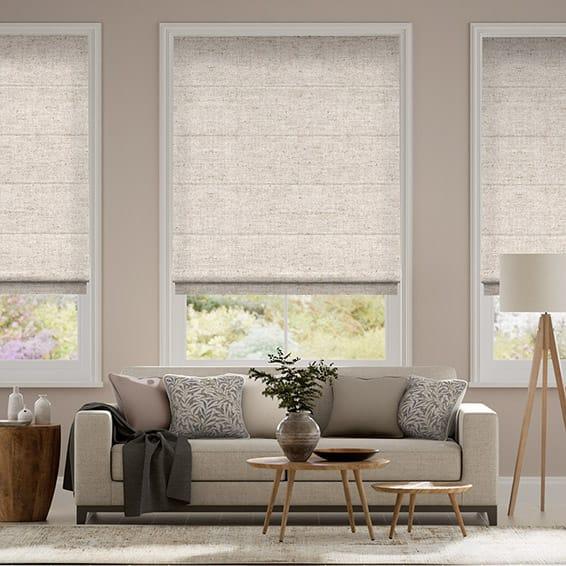 Linen Natural Roman Blind
