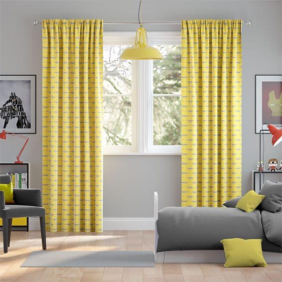 Little Mr Fox Sunflower Curtains