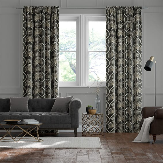 Louella Charcoal Curtains