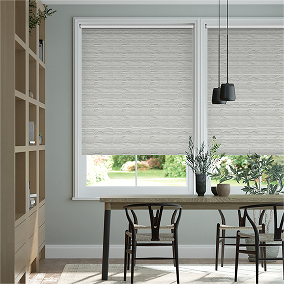 Lucius Blackout Mist Grey Roller Blind
