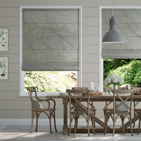 Lumiere Unlined Ahisma Luxe Faux Silk Chrome Roman Blind