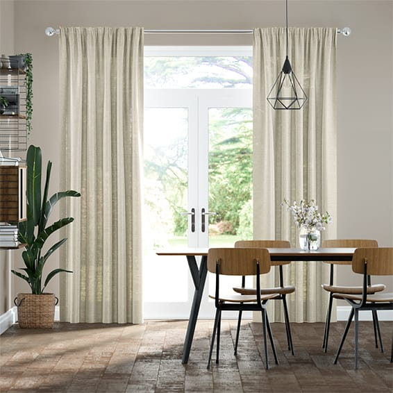 Lumiere Unlined Ahisma Luxe Faux Silk Gilt Curtains