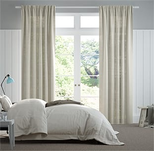 Lumiere Unlined Ahisma Luxe Faux Silk Oyster Curtains thumbnail image