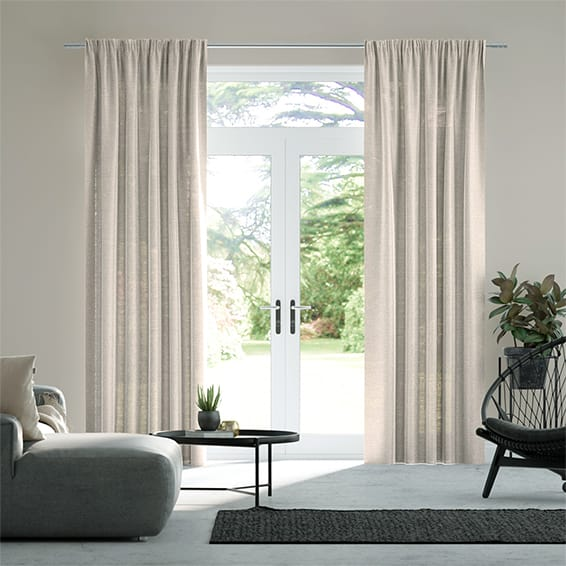 Lumiere Unlined Ahisma Luxe Faux Silk Rose Gold Curtains