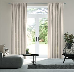 Lumiere Unlined Ahisma Luxe Faux Silk Rose Gold Curtains thumbnail image
