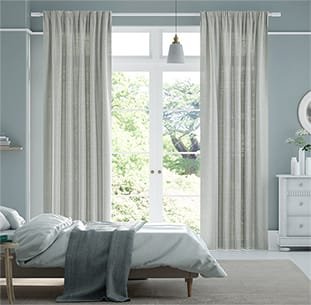 Lumiere Unlined Ahisma Luxe Faux Silk Silver Curtains thumbnail image