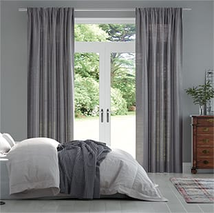 Lumiere Unlined Ahisma Luxe Faux Silk Warm Grey Curtains thumbnail image