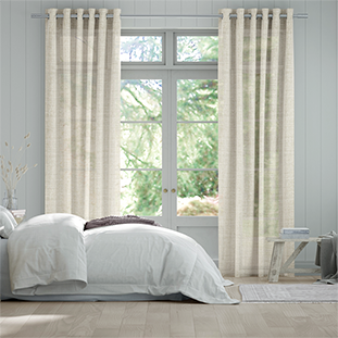 Lumiere Unlined Arlo Oatmeal Curtains thumbnail image